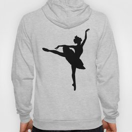 Ballerina silhouette (black) Hoody