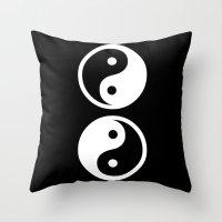 yin yang Throw Pillows featuring Yin Yang by Beautiful Homes