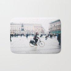 Biking in Milan Bath Mat