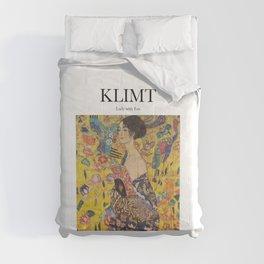 Klimt - Lady with Fan Comforters