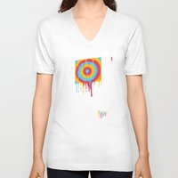 inside gaming V-neck T-shirts featuring Gaming by Ronan Lynam