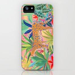 Leopard in Succulent Garden iPhone Case