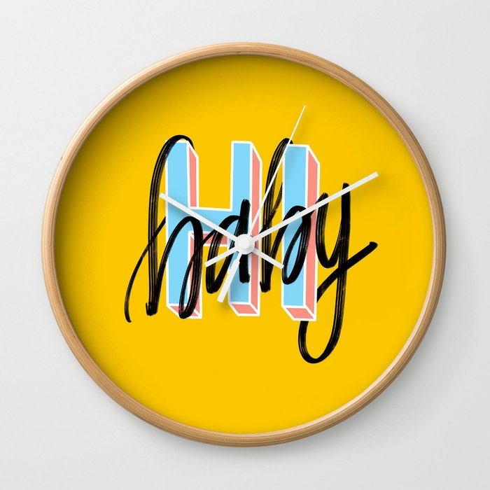 Hi baby Wall Clock