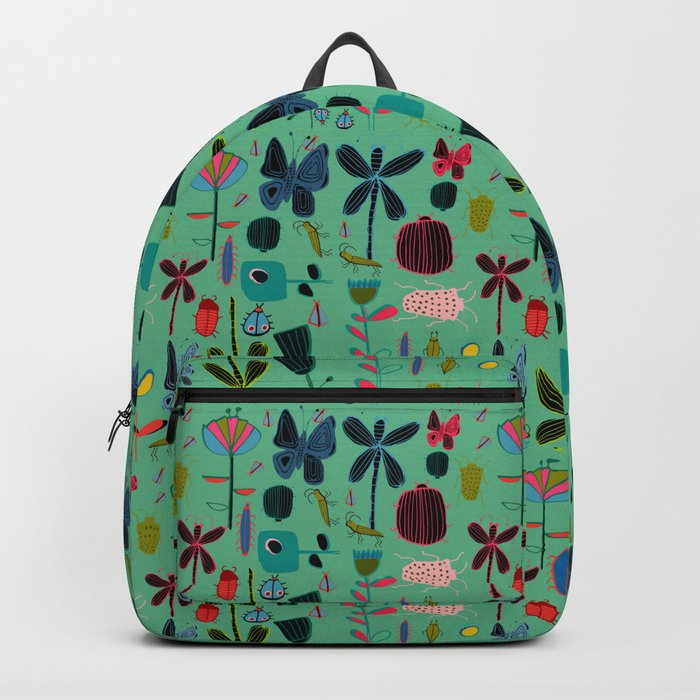 Insect watercolor green Backpack