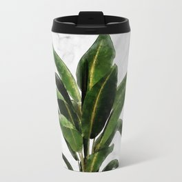 Banana Plant on Pink and Marble Wall Travel Mug