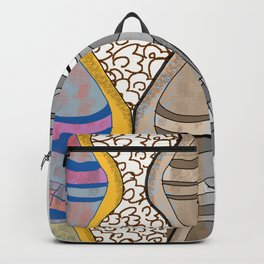 Girl Silhouette with Shapes VIII Backpack