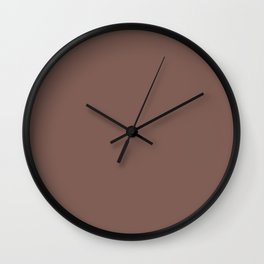 Dark Red Clay Brick Brown - Solid Color Parable to Potter's Rock 1007-9A by Valspar Wall Clock