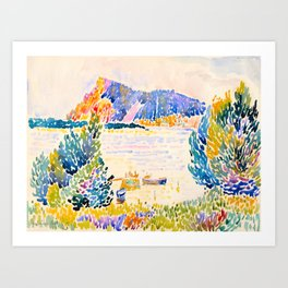 Henri-Edmond Cross Neo-Impressionism Pointillism Cap Nègre 1909 WatercolorPainting Art Print