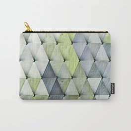Textured Triangles Lime Gray Carry-All Pouch