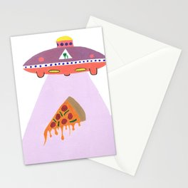 Pizza Alien Stationery Cards