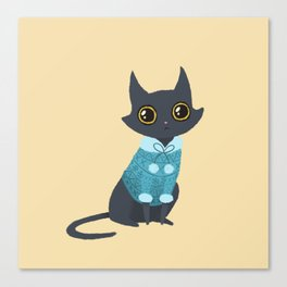 Cozy cat Canvas Print