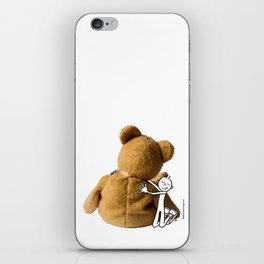 DIDI hugs his teddy bear iPhone Skin