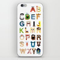 kids iPhone & iPod Skins featuring Muppet Alphabet by Mike Boon