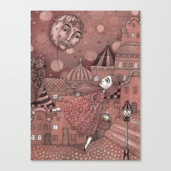 Strawberry Moon in June Canvas Print