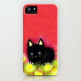 Black kitten iPhone Case
