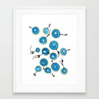 classy Framed Art Prints featuring Classy by Gosia&Helena