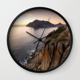 Sunset view from Chapman's Peak drive in Cape Town, South Africa Wall Clock