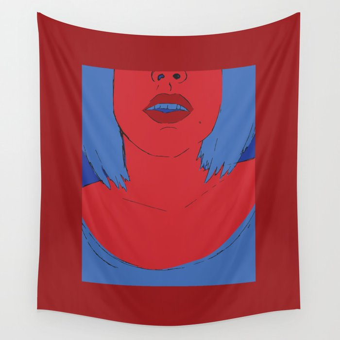 girl in red Wall Tapestry