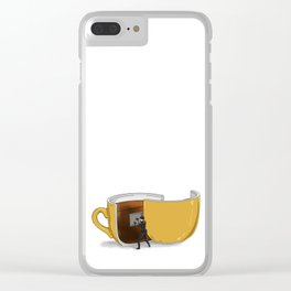 Coffee Confidential Clear iPhone Case