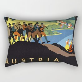 Vintage travel poster Austria Rectangular Pillow
