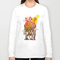 honeycomb Long Sleeve T-shirts featuring The Honeycomb by minniemorrisart