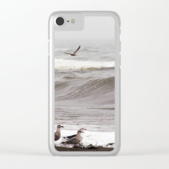 Seagulls and the Surf Clear iPhone Case
