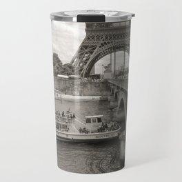 Eiffel Tower Black and white Travel Mug