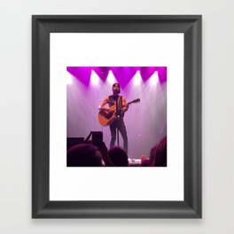 Alex Gaskarth- #Bands Framed Art Print