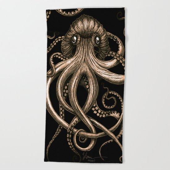 Bronze Kraken Beach Towel