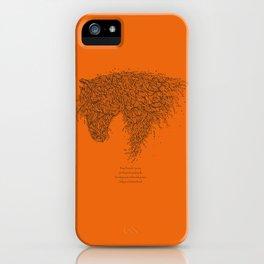 Horsey Orange iPhone Case