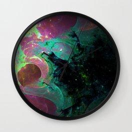 fractal world 196 Wall Clock