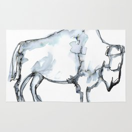 Buffalo, Watercolor Rug
