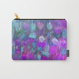 Field of Flowers in Purple, Blue and Pink Carry-All Pouch