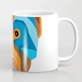 Rhesus Macaque Head Flat Icon Coffee Mug