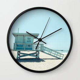 Hermosa Beach Lifeguard Tower 19 Wall Clock