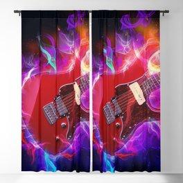 Electric Guitar Art Blackout Curtain
