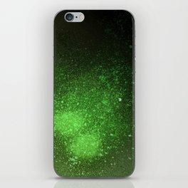 Green and Black Spray Paint Splatter iPhone Skin