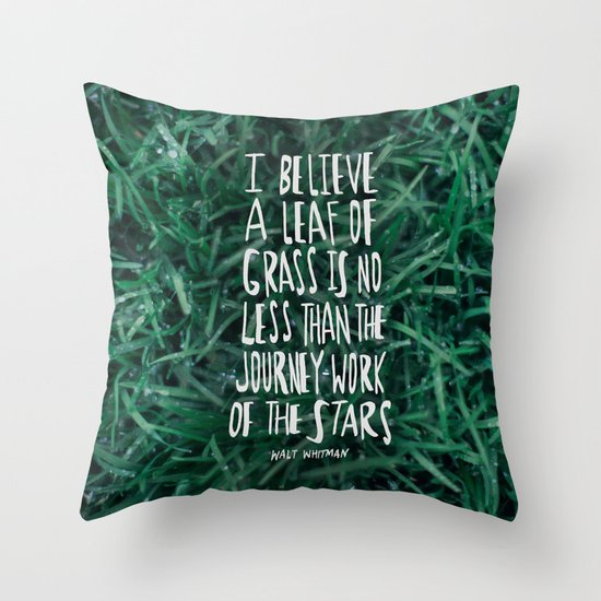 Leaf of Grass Throw Pillow