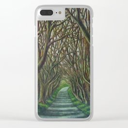The Dark Hedges Clear iPhone Case