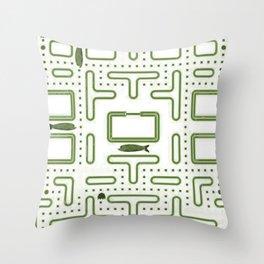 Pac-Fish II Throw Pillow