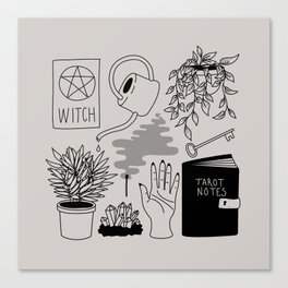 Witchy Treasures Canvas Print