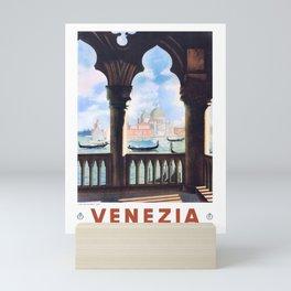 1938 ITALY Venice Venezia Travel Poster Mini Art Print