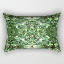 Herb Garden Chives Pattern Rectangular Pillow