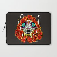 calavera Laptop Sleeves featuring lupe calavera by Natte