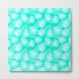 Tropical Aqua Print Metal Print