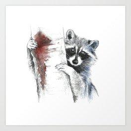 Raccoons III Art Print