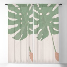 Monstera Leaf Blackout Curtain