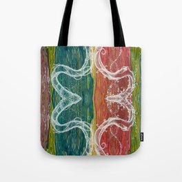 The Mutual Appreciation Paradox (Resistance of Magnetic Entanglement) (Reflection) Tote Bag