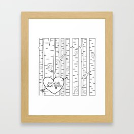 Bookish Love Affair Blk&Wht Framed Art Print