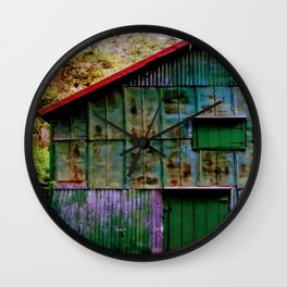 Rainbow Barn Wall Clock